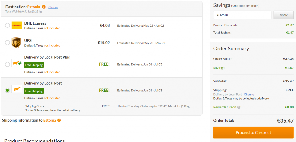 iHerb Eesti Discount Code Free Shipping